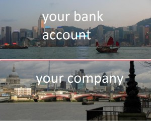 Incorporate company in UK and have a bank account in Hong Kong