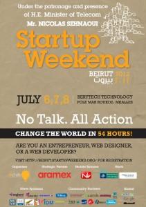 Starupr, Windows, Google  as a sponsors of Startup Weekend Beirut